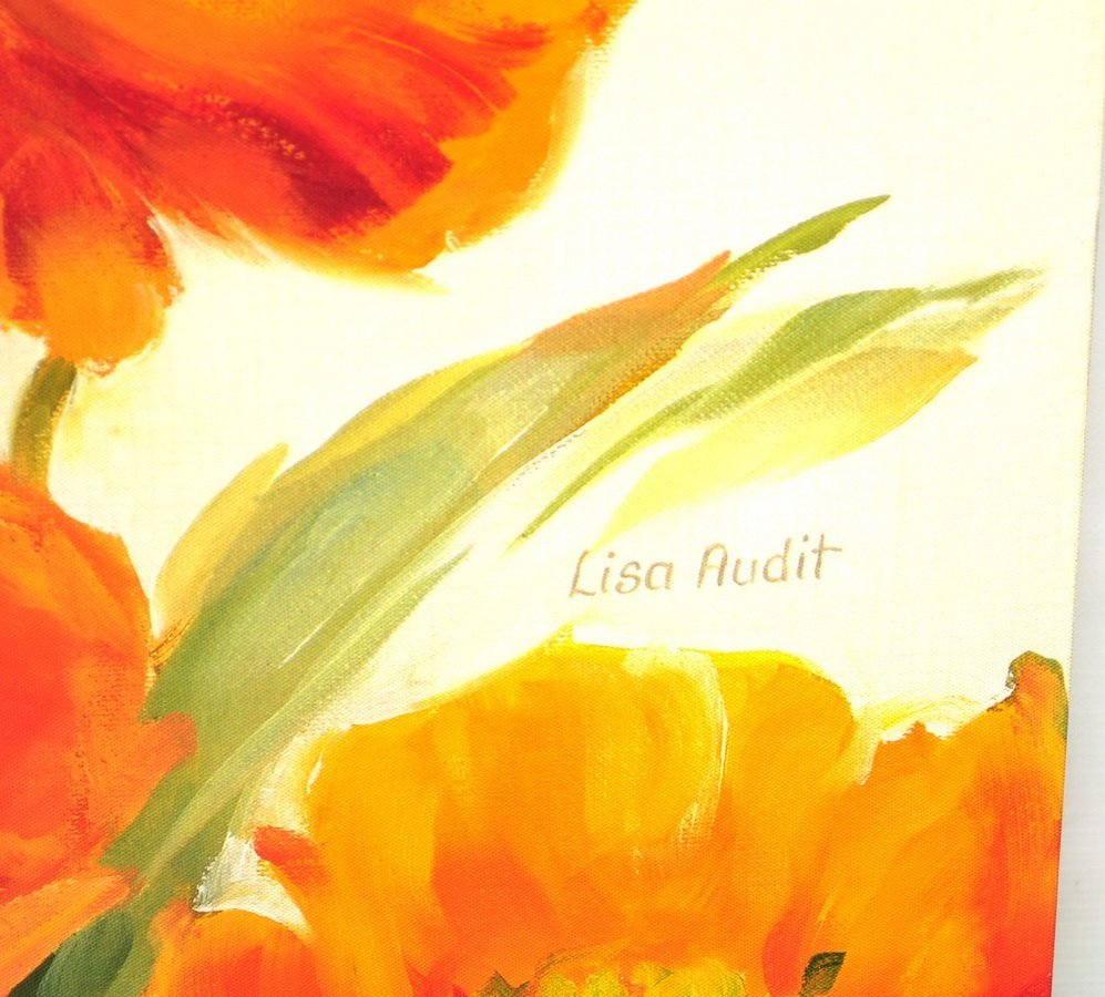 Oil On Canvas Floral By Lisa Audit - 2