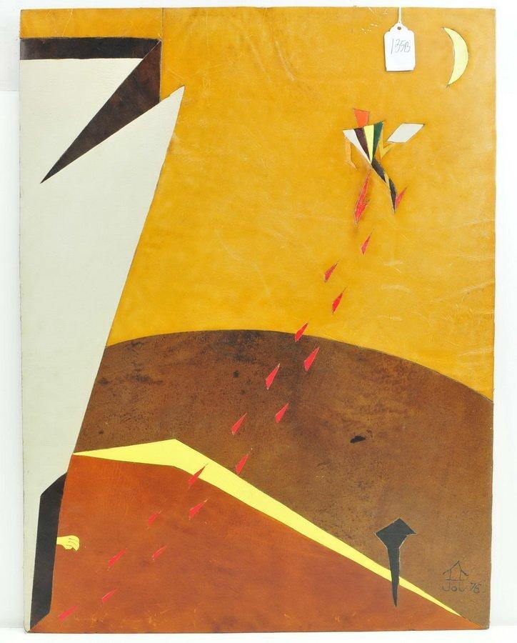 Leather on Board by Frank Diaz Escalet 24x18