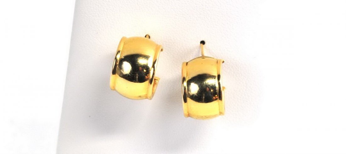 Three Sets of 14Kt. Gold Earrings 7 Grams
