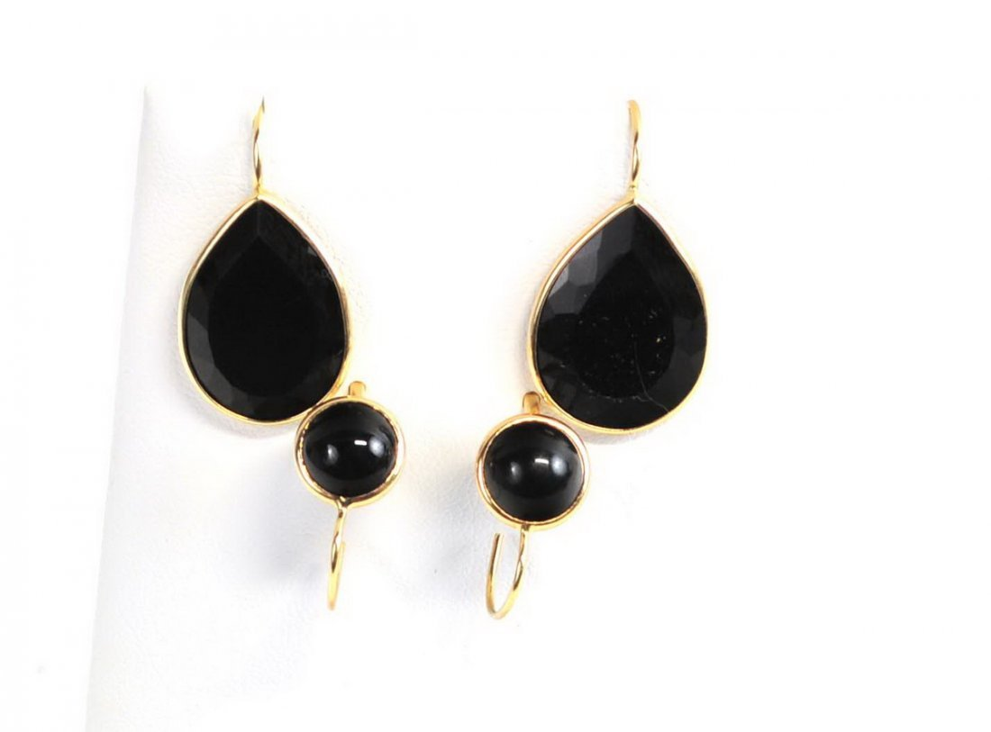 Four Sets of 14Kt. Gold Earrings