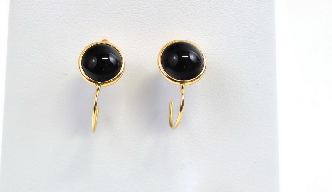 Four Sets of 14Kt. Gold Earrings - 4