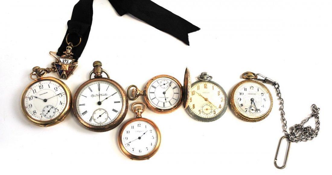 Six Antique Pocket Watches