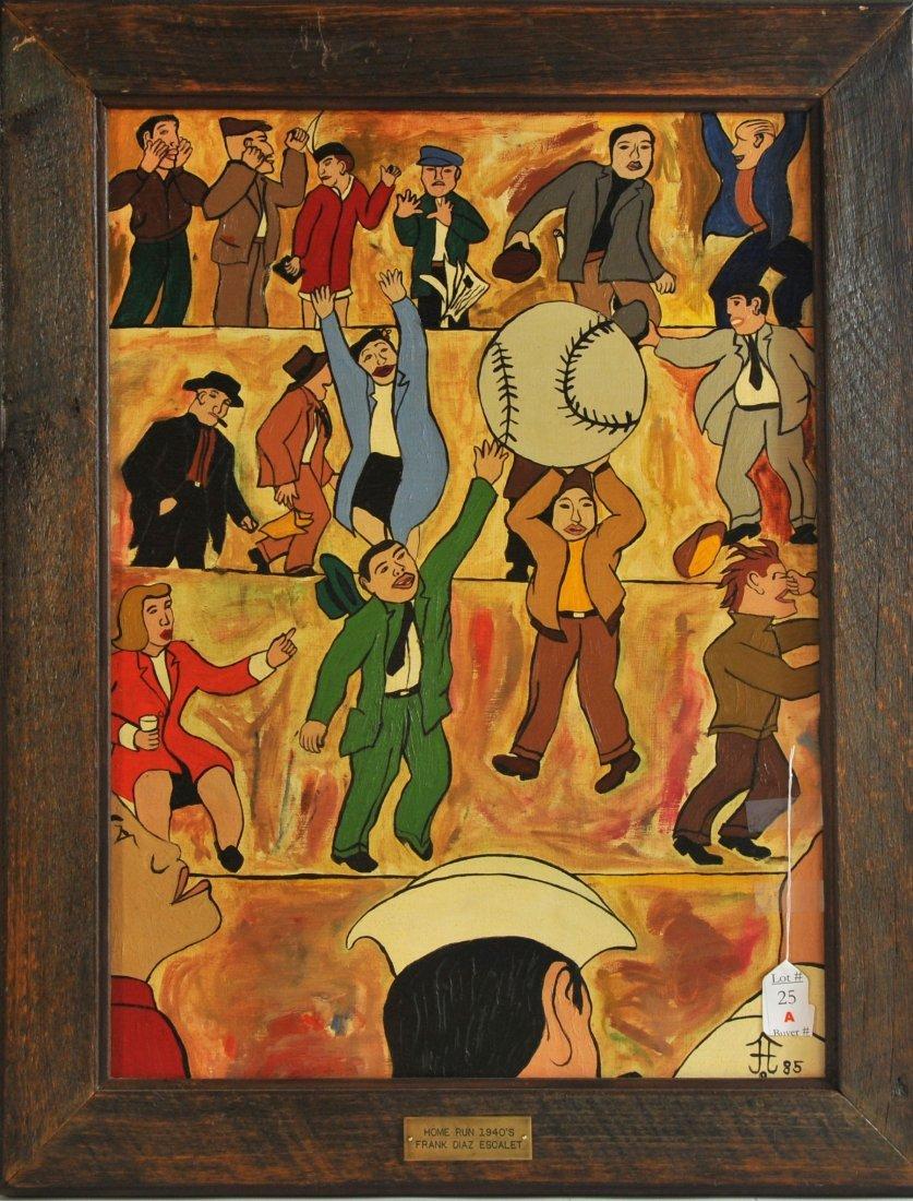 """AOB 23x17 Framed World Tour """" Homerun 1940's"""" 1985"""