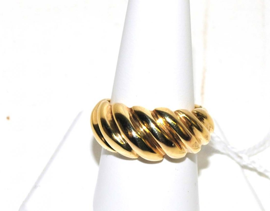 Ladies 14Kt. Ripple Design Ring 3 Grams