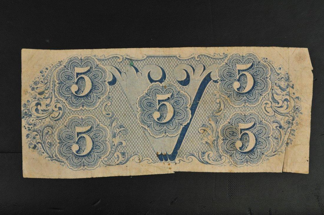 Confederate States $5 Bills - 2