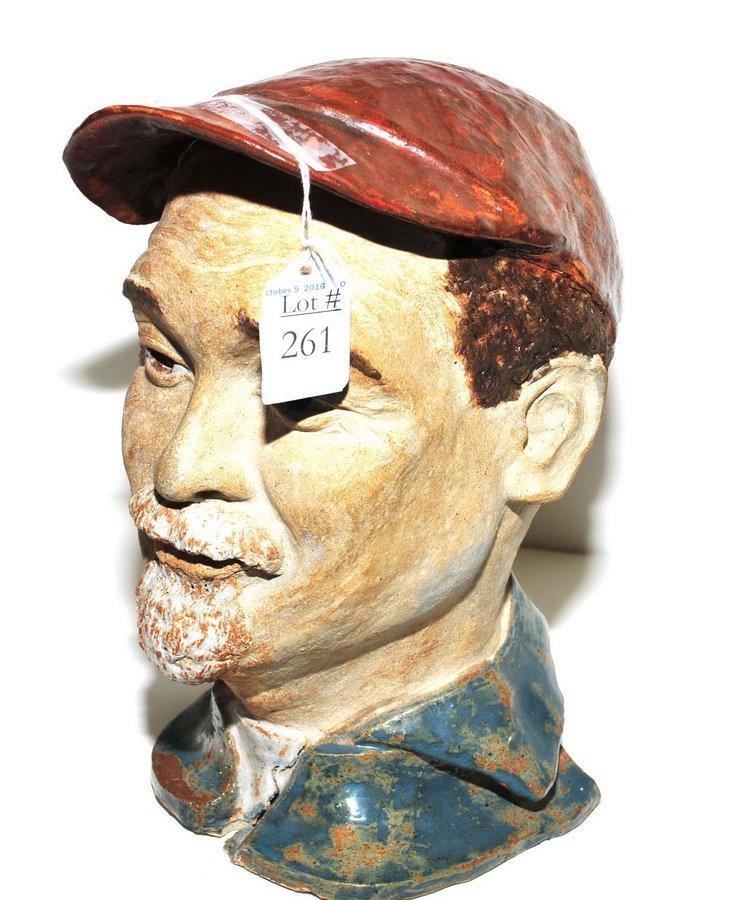 Makato Yabe Glazed Pottery Bust