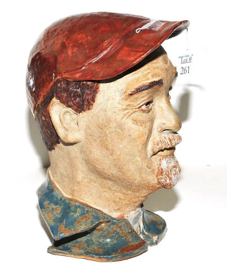 Makato Yabe Glazed Pottery Bust - 3
