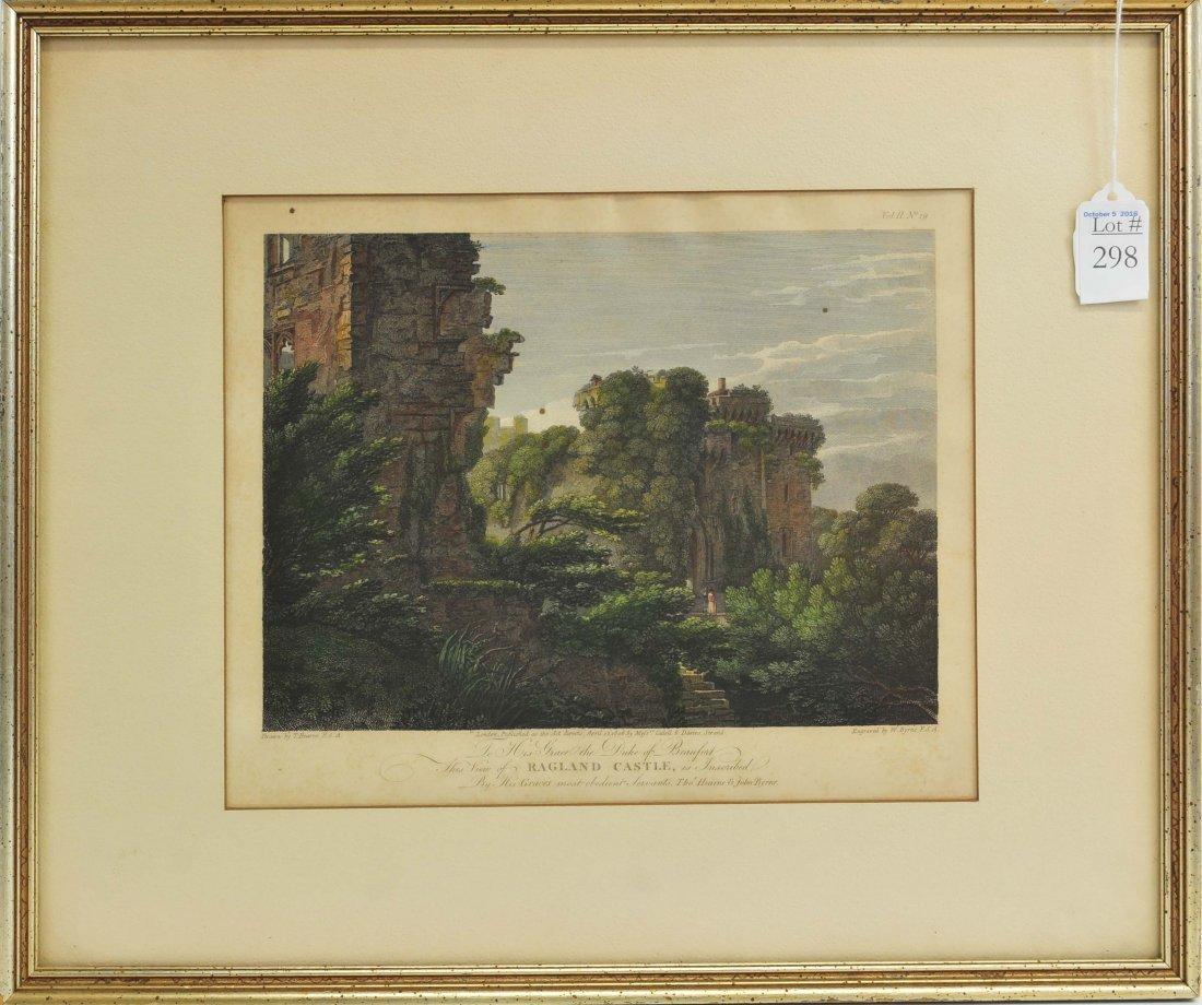 Antique Engraving of Ragland Castle 11x9