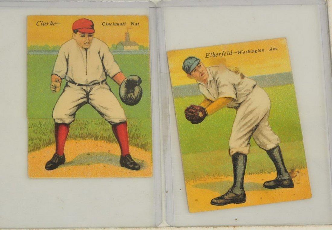 Two 1910 T201 Mecca Folders Elberfeld/Clarke