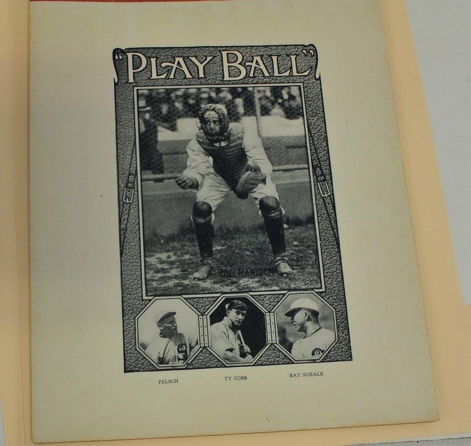 1910 baseball Writing Tablet Ty Cobb Rare