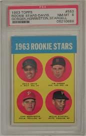 1963 Topps Willie Stargell Rookie PSA 8