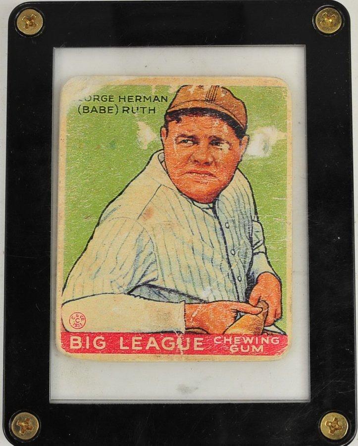 1933 Goudey  Babe Ruth Card # 181 Ungraded