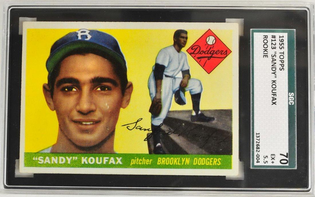 1955 Topps Sandy Koufax Rookie SGC 70 EX+ 5.5