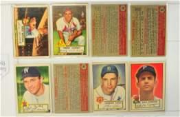 254 1952 Topps Baseball Cards