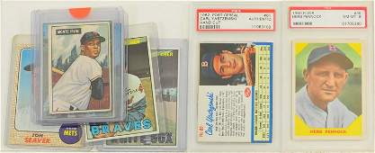 8 1950s and 60s Baseball Cards