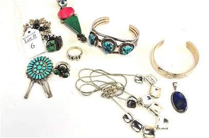 Vintage Sterling Silver Turquoise Gemstone Jewelry