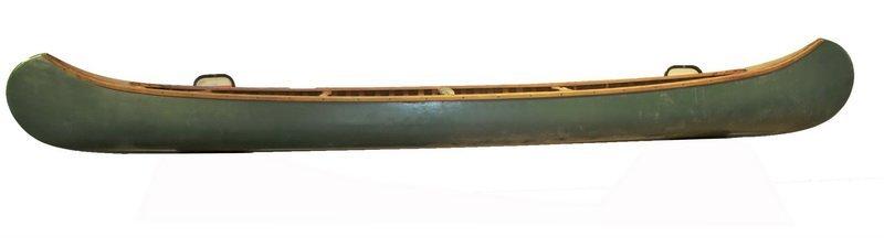 Vintage EM White Canoe 18' FT 19' Foot Long Maine