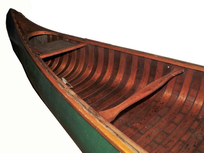 Old Town Charles River Canoe Maine Canvas Ribbed 17' FT - 3