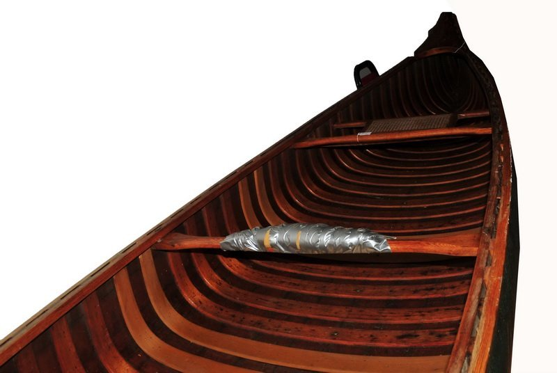 Old Town Charles River Canoe Maine Canvas Ribbed 17' FT - 4