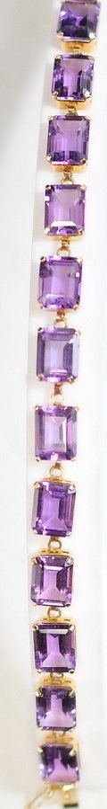 Ladies Amethyst Bracelet and Ring 10Kt Gold - 2