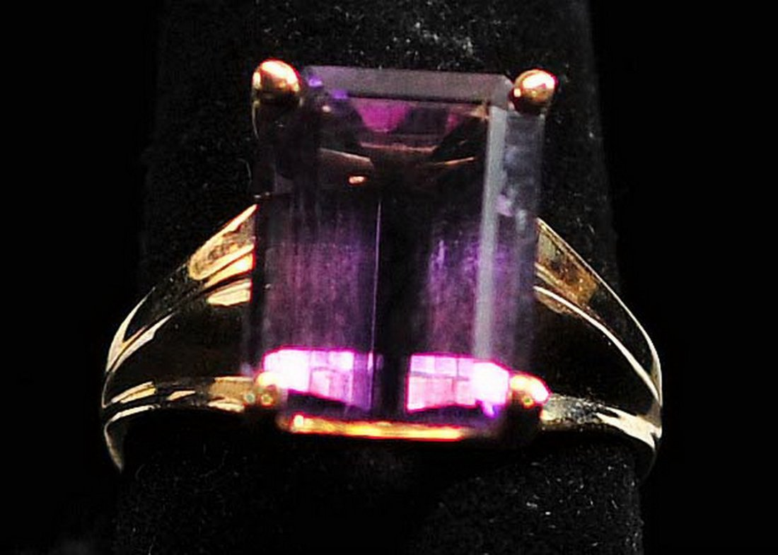 Ladies Amethyst Bracelet and Ring 10Kt Gold - 4