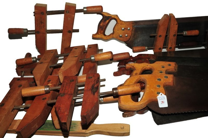 5 Saws and 9 wooden clamps - 2