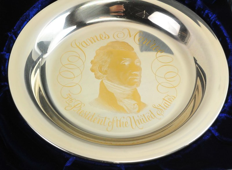 2- Franklin Mint Presidential Sterling & 24K Plate - 4