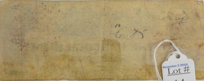 1854 Hancock Maine Obsolete $3 Bank Note - 2
