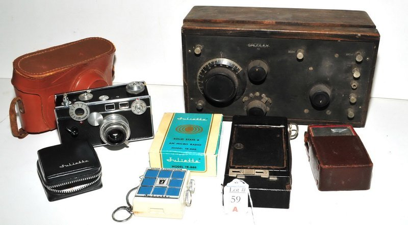 Vintage Camera Argus Channel Master Radio
