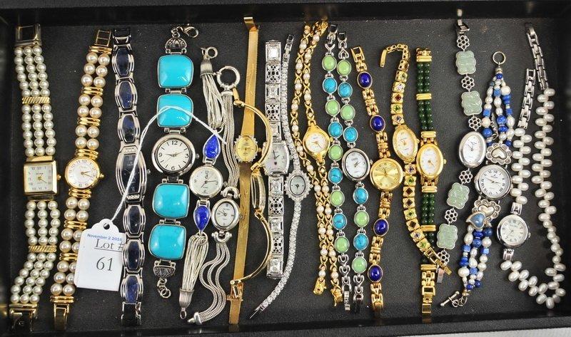 18 Designer Watches/Croton/Elgin/Carolee
