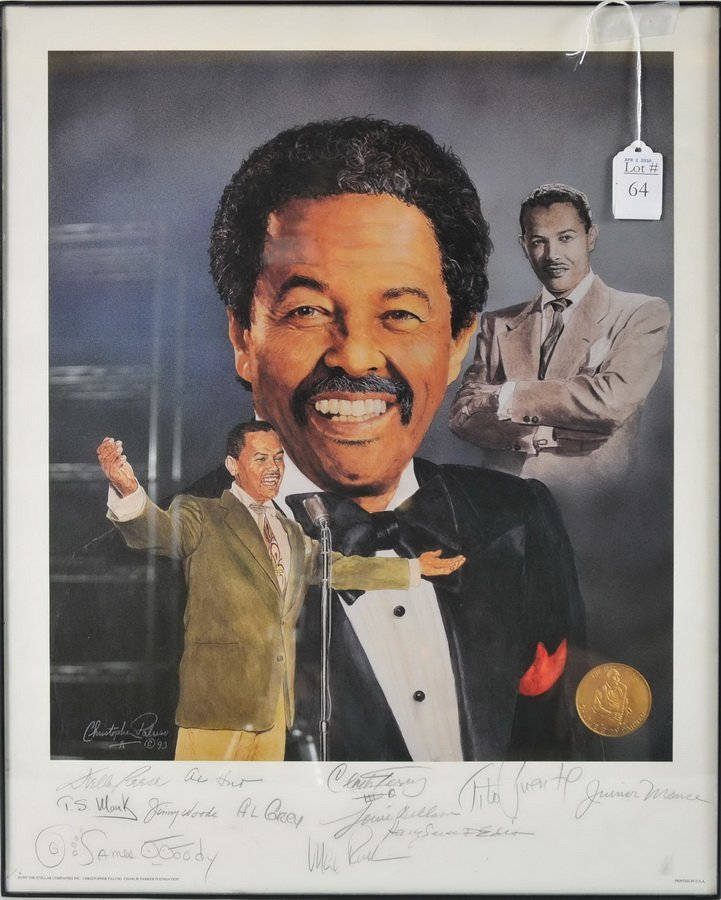 Young Cab Calloway Print Signed by Jazz Legends