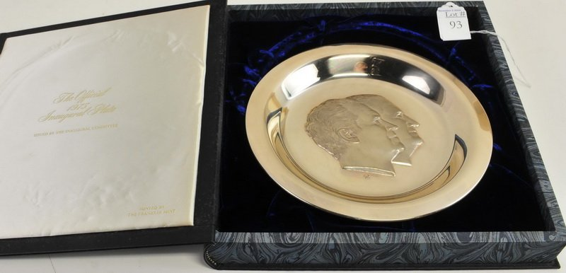 1973 Sterling Silver Richard Nixon Inaugural Plate