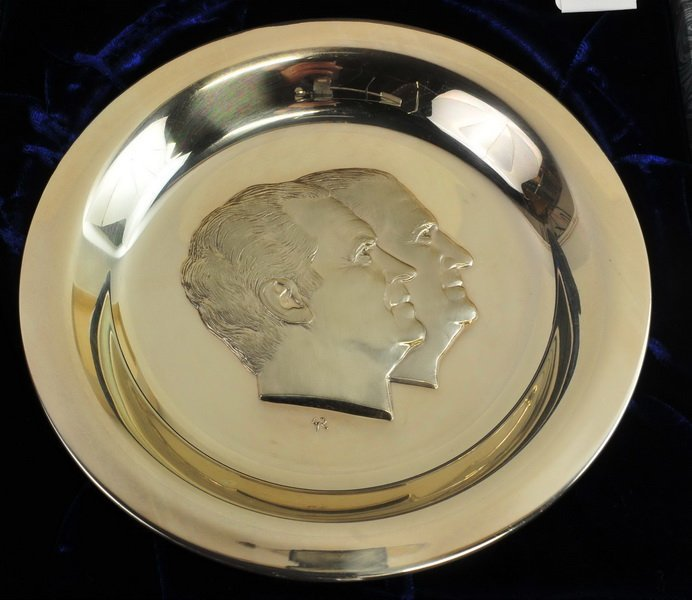 1973 Sterling Silver Richard Nixon Inaugural Plate - 2