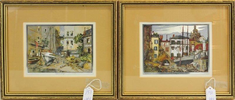 Four Lionel Barrymore Framed  Chrome Prints