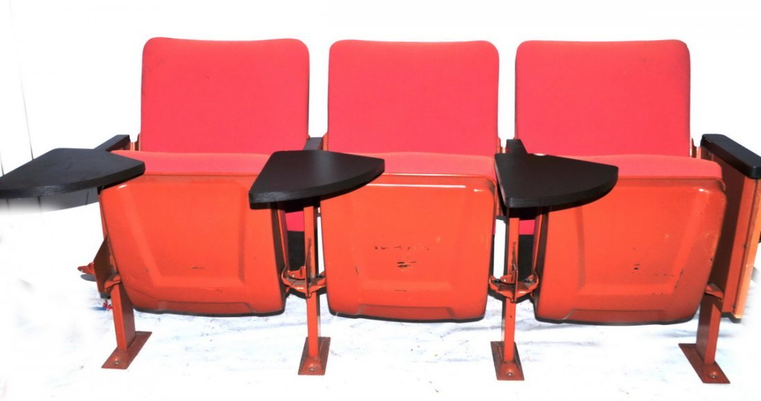 Vintage Triple Theater Seats