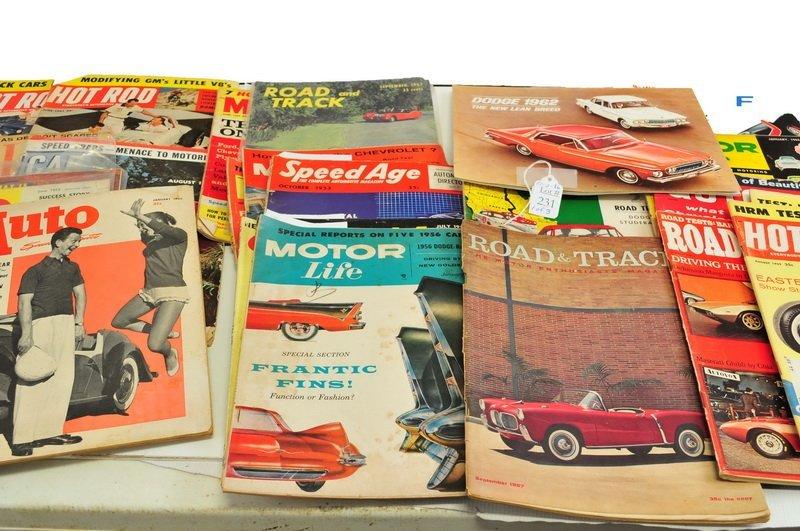 Over 80 Vintage Auto Magazines