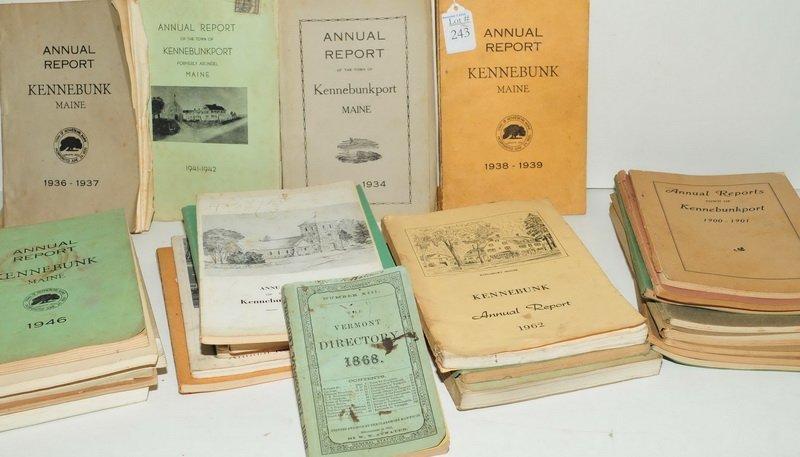 Kennebunk/Kennebunkport Town Reports 1900-1962