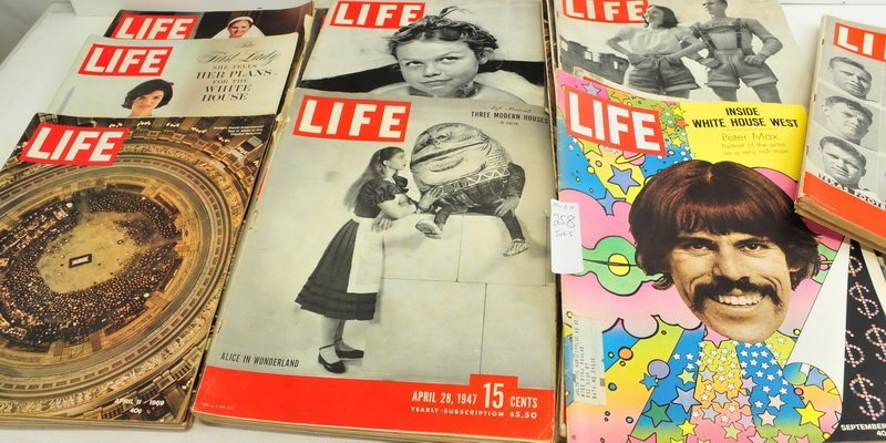 Five boxes of Assorted Life Magazines - 5