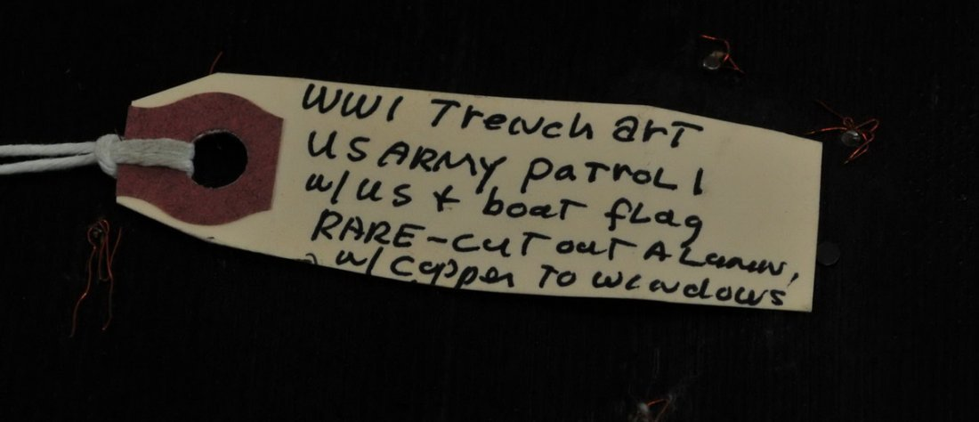 WWI Trench Art US Army Patrol Boat - 2