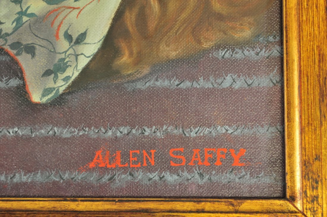 Oil on Board Nude Lady by Allen Saffy - 2
