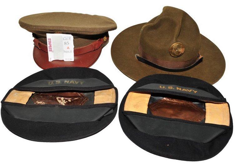 Four WWII Era Hats