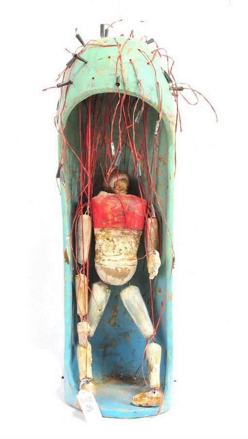"19"" Folk Art Puppet in a Capsule"