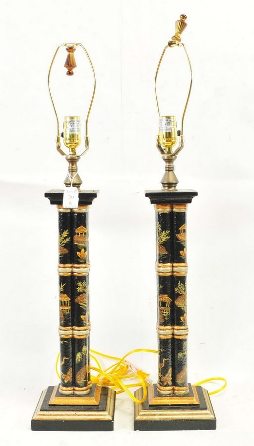 Pair of Vintage Asian Lamps