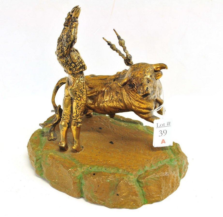 Brass Matador Sculpture