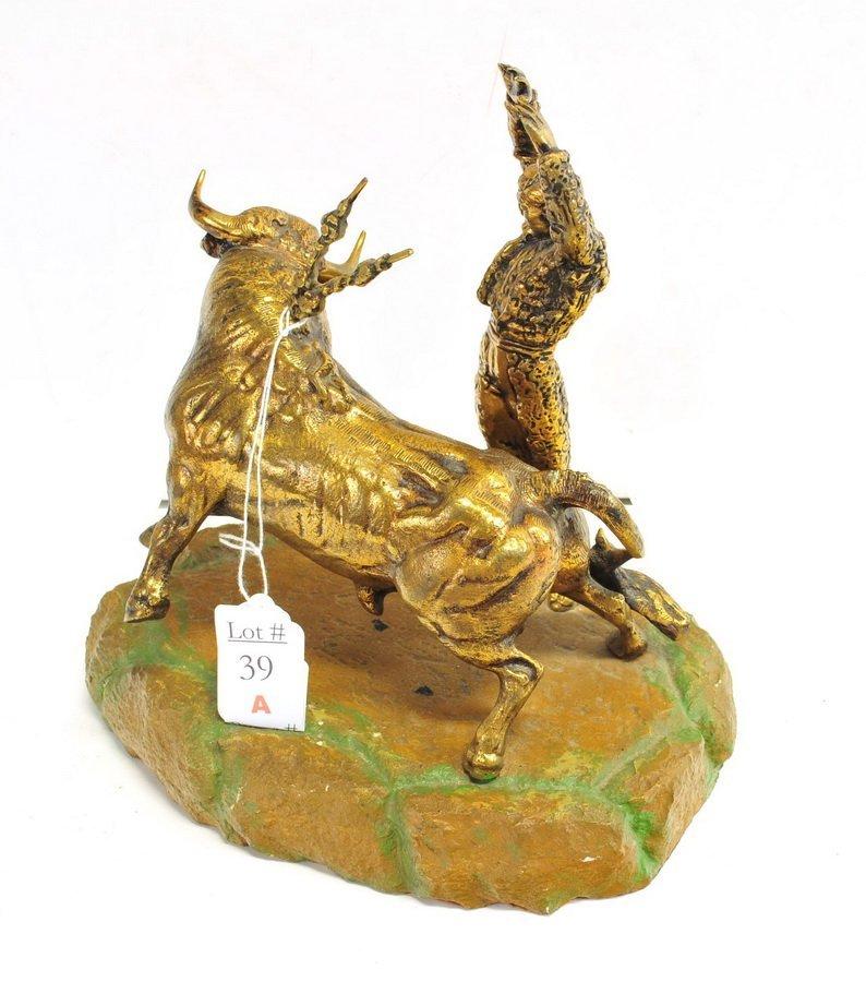 Brass Matador Sculpture - 2