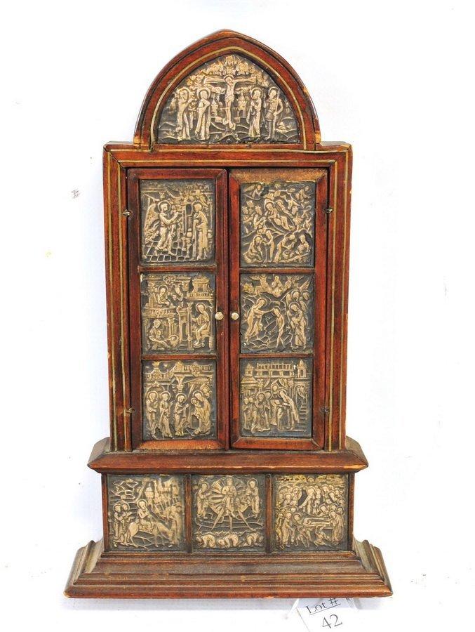Antique Religious Triptych