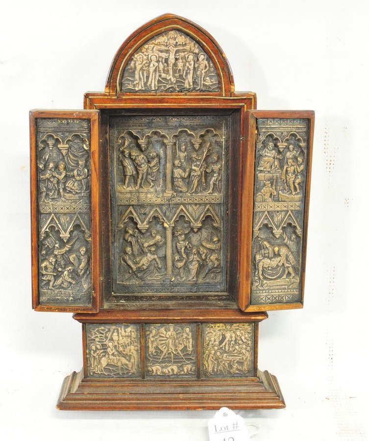 Antique Religious Triptych - 2