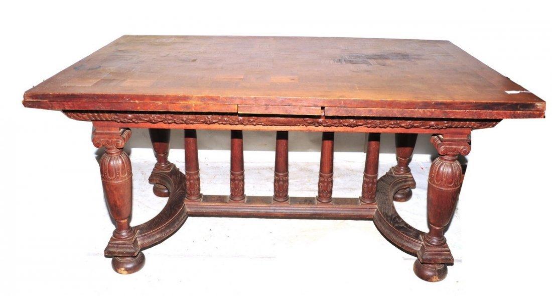 Excellent Antique Oak Table and Buffet