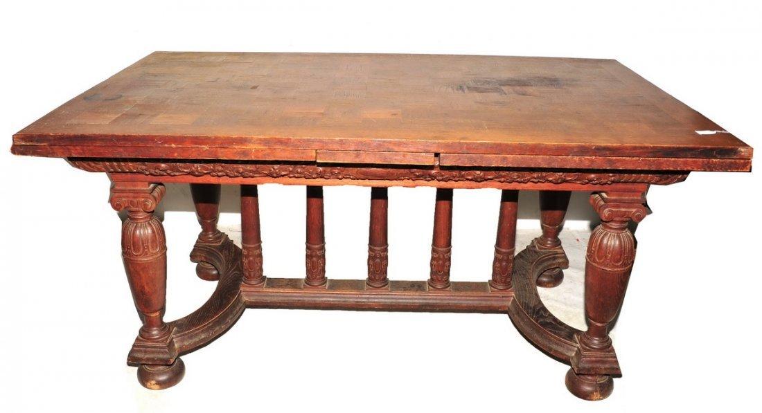 Excellent Antique Oak Table and Buffet - 2