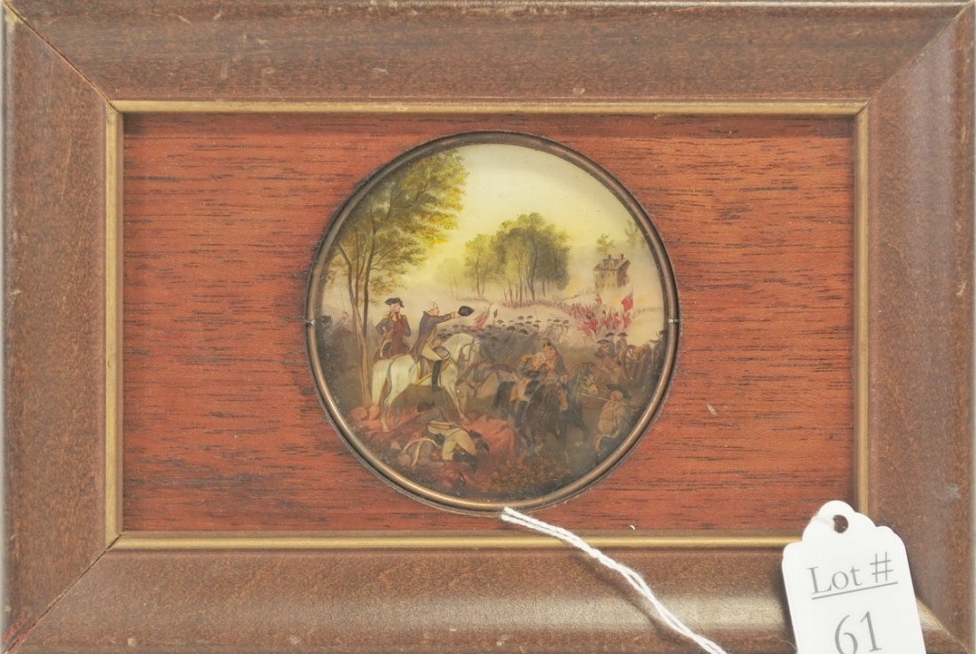 Reverse Painting On Glass Battle Of Eutaw Springs